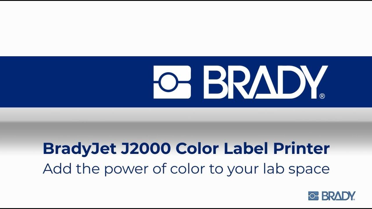 BradyJet J2000: Laboratory solutions