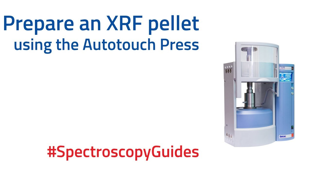 How to make an XRF pellet with an automatic hydraulic press | Spectroscopy Guides