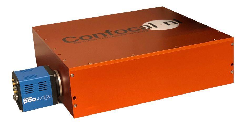 Figure 3: Confocal.NL Rescan Confocal Microscope with pco.edge 4.2 sCMOS scientific Camera