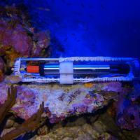 Profiler records conductivity, temperature and depth of sea water